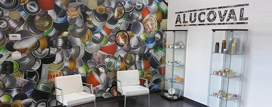 Envases de aluminio de colores y serigrafiados